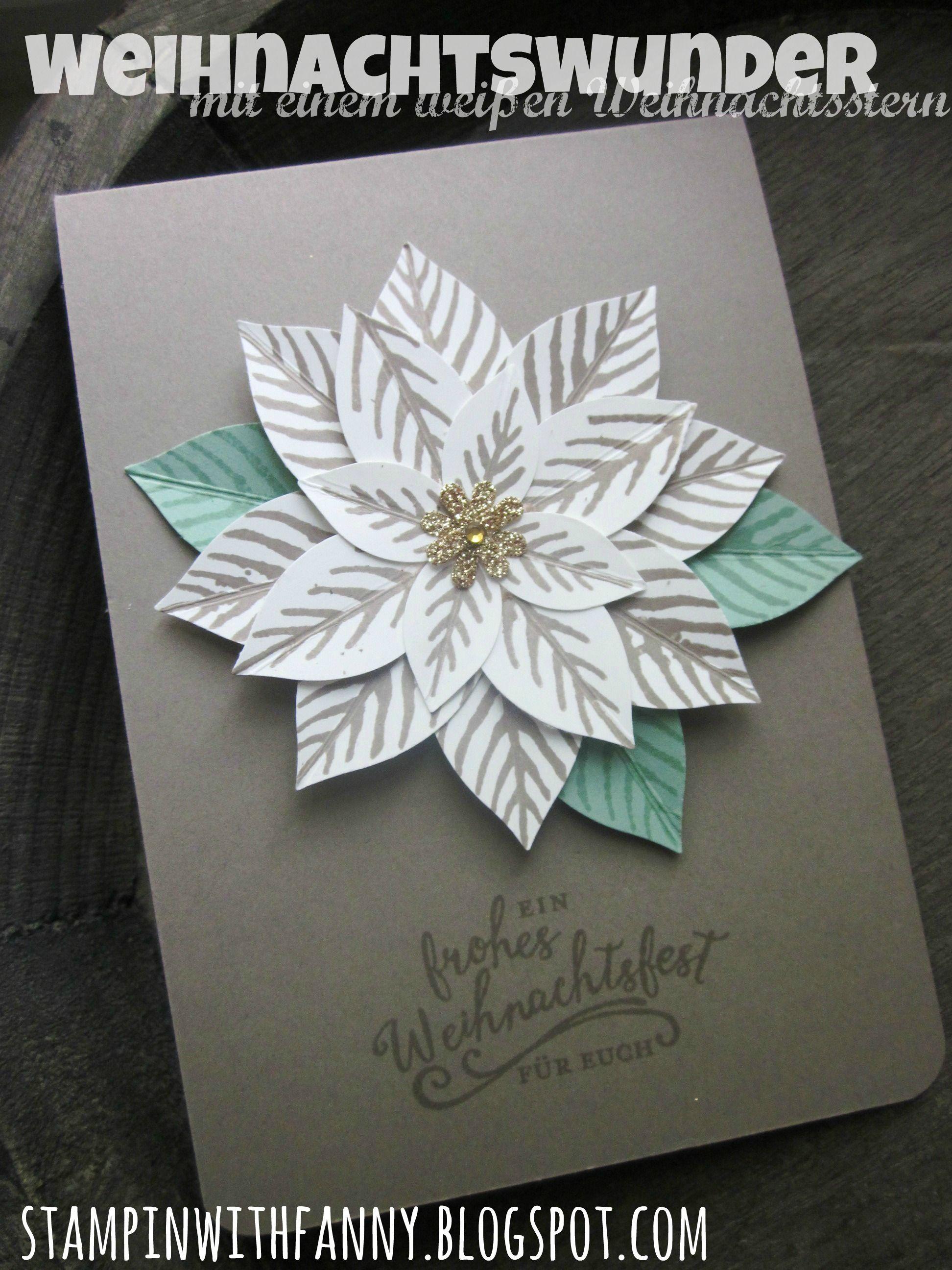 Stampin up stampinwithfanny weihnachtskarte weihnachtsstern christmas card festliche blüte weihnachtswunder reason for the season festive flower poinsettia