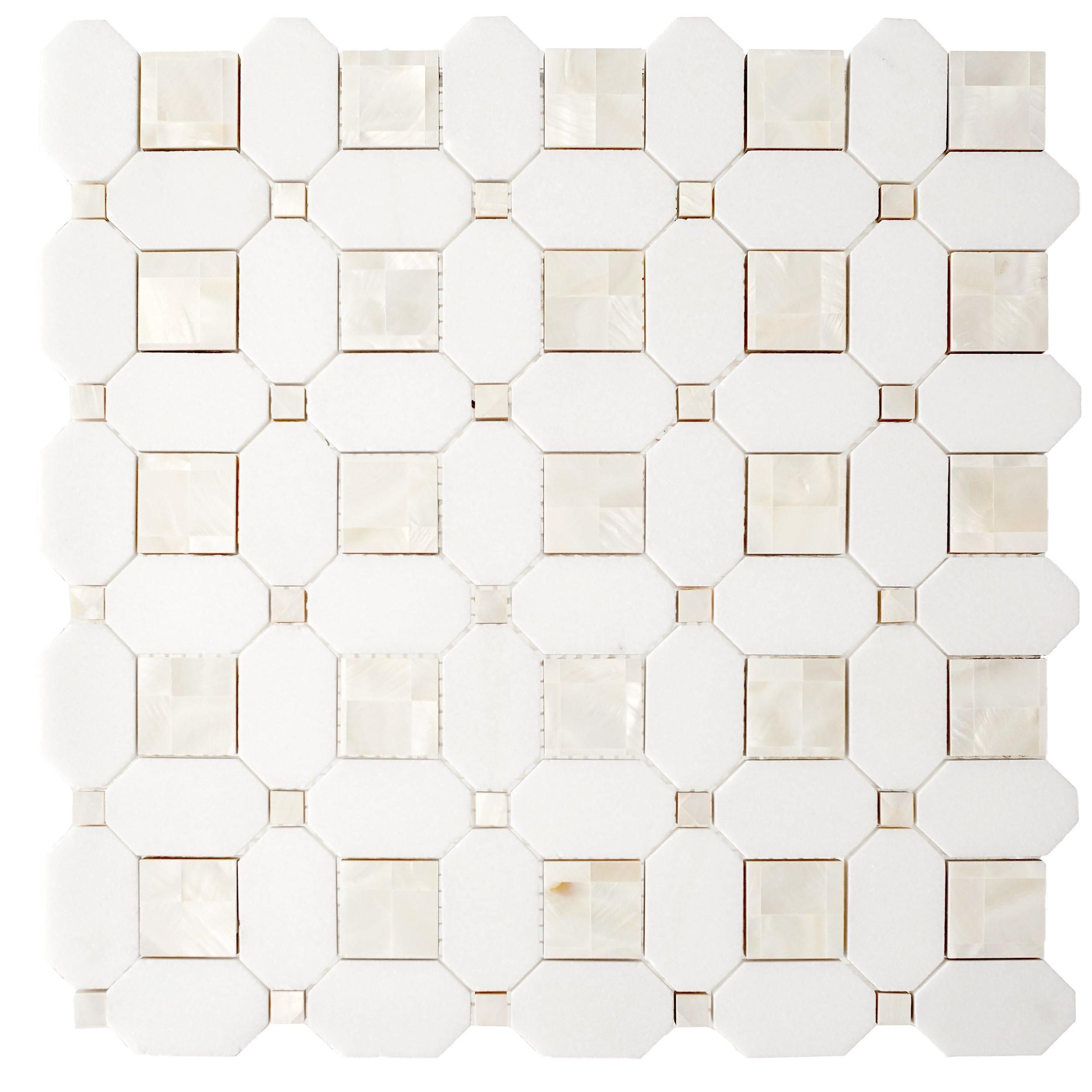 Thassos Mother Of Pearl Basket Weave Marble Mosaic In 2020 Marble Mosaic Basket Weave Tile Marble Mosaic Tiles