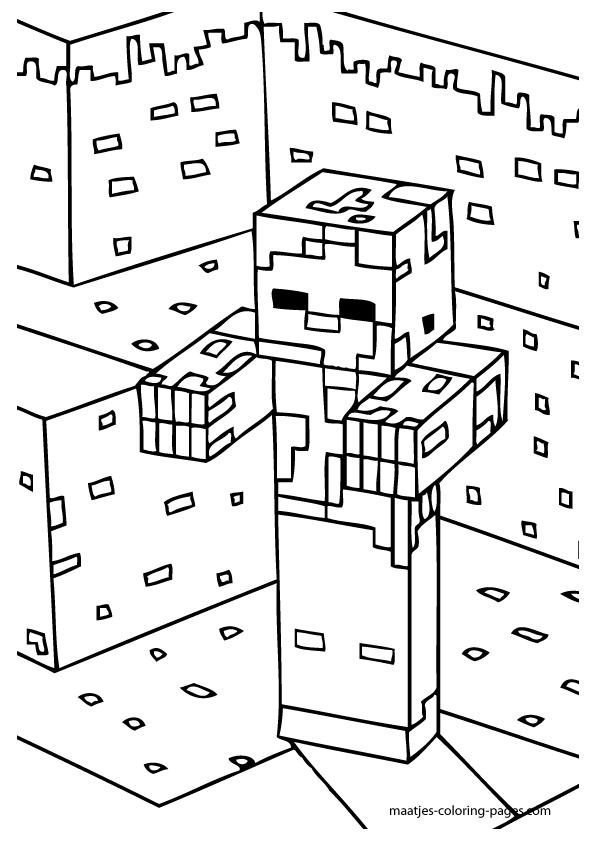 Minecraft coloring | Coloring pages, Coloring pages for boys