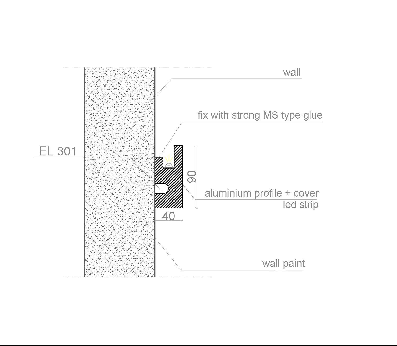Stuckleiste Wandleiste Deckenleiste Lichtleiste Fur Indirekte Led Beleuchtung El301 Eleni Lighting Italy In 2020 Led Beleuchtung Beleuchtung Indirekte Beleuchtung