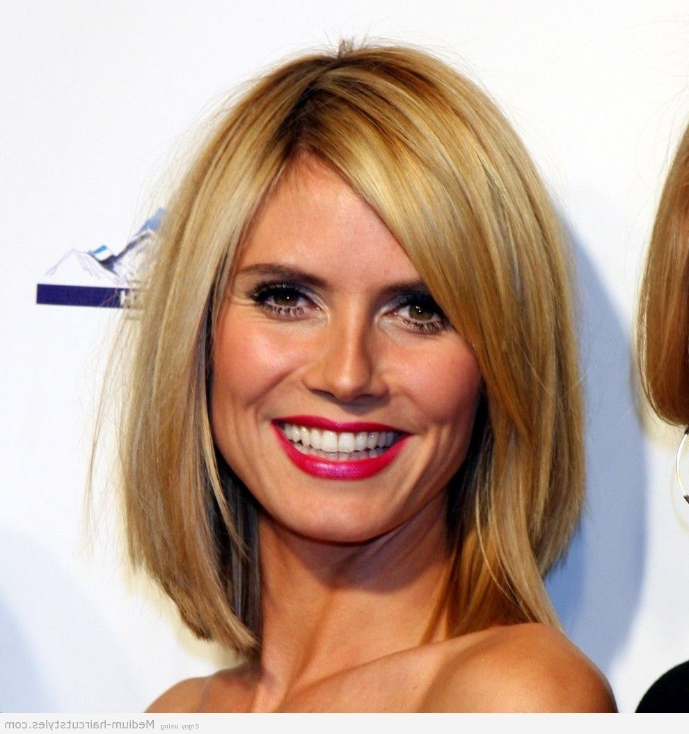 Medium Medium Length Hairstyles For Thick Hair And Round Faces