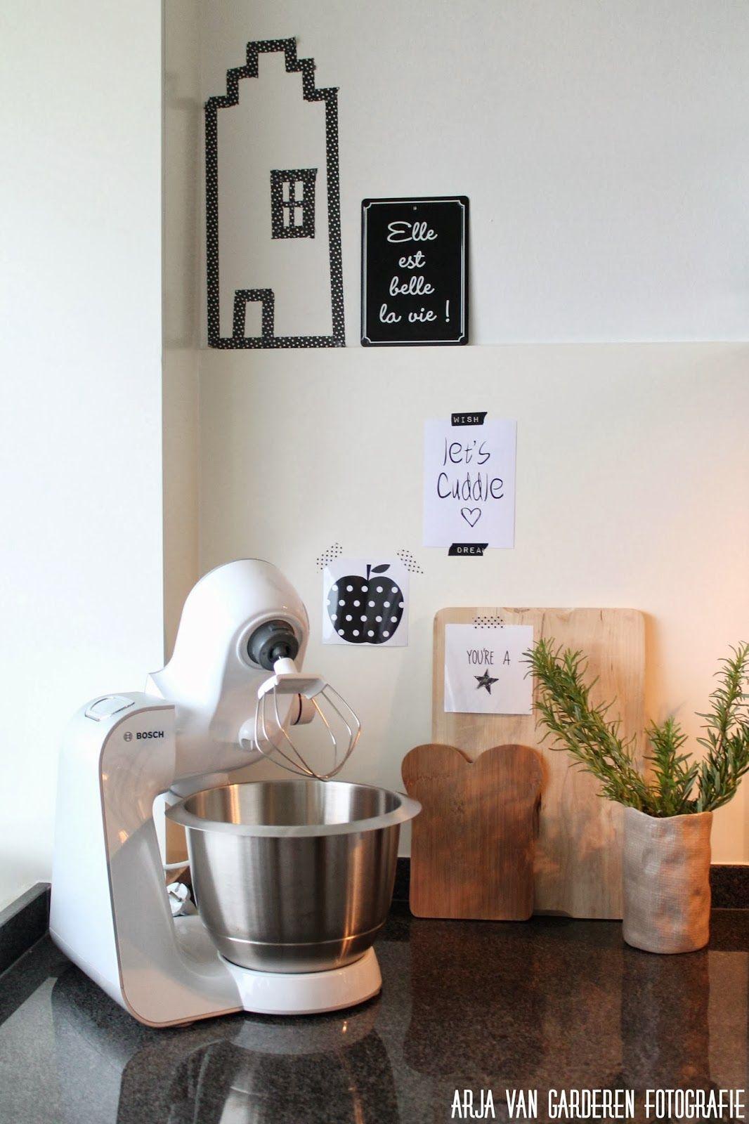 Zwart, wit & hout: Onze keuken + kringloopgelukjes #2 | interieur ...
