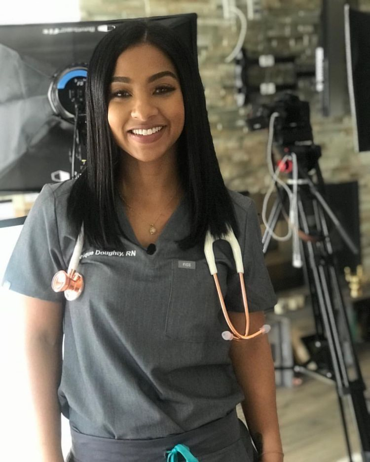 Follow beautifulbrownshades for more beautiful nurse