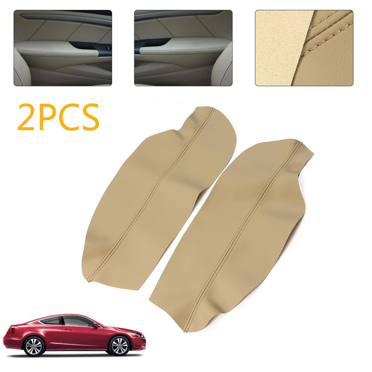Leather Front Door Panels Armrest Cover For Honda Accord 2008 2012