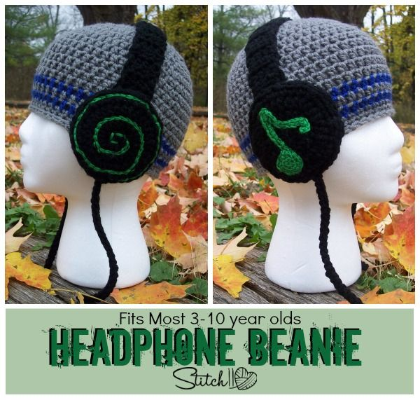 Headphone Beanie for Children - Stitch11 | crochet | Pinterest ...