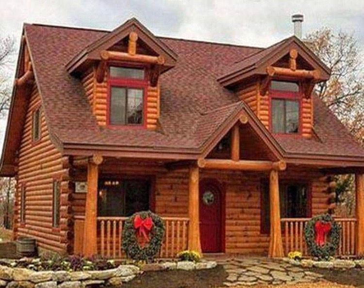 Pin By Khalid Elshaer On Cabins Small Log Homes Cabin House Plans Log Cabin Exterior