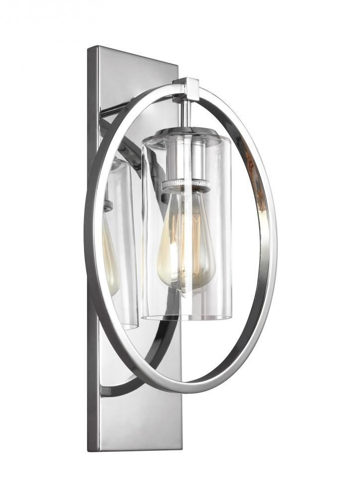 Feiss wb1846ch marlena 1 light wall sconce in chrome