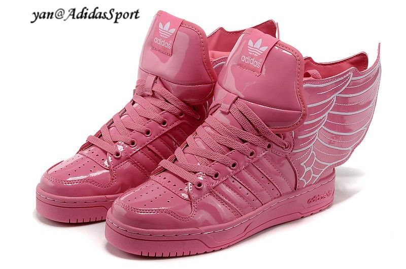 timeless design 4e9b7 79167 Adidas Originals by Jeremy Scott Wings Laksko Rose Pink Hvid HOT SALE! HOT  PRICE!