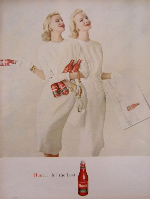 1960 Hunts Tomato Catsup Vintage Advertisement by RelicEclectic, $8.00