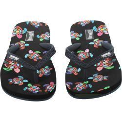 Damen Accessoires - Over the Rainbow Turtles Flip-Flops für Damen - Schuhe - Coppa - Schwarz - 36/37