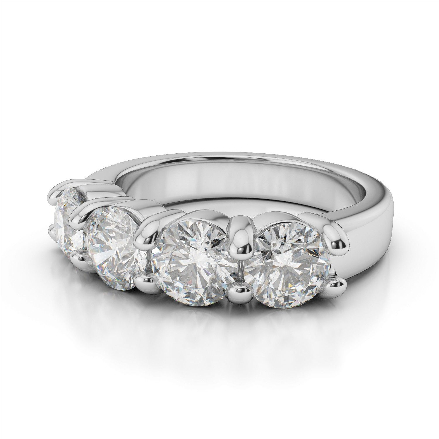 g h princess vs diamond in anniversary ring platinum bands band cut eternity