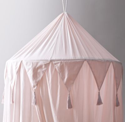 RH Baby u0026 Childu0027s Cotton Voile Play Canopy - PetalA little imagination goes a lot further when itu0026 accompanied by our hanging canopy which transforms any ... & RH Baby u0026 Childu0027s Cotton Voile Play Canopy - Petal:A little ...