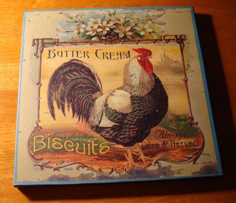 BUTTERCREAM BISCUITS French Country Style Rooster Kitchen Sign Home Decor  NEW #FrenchCountry