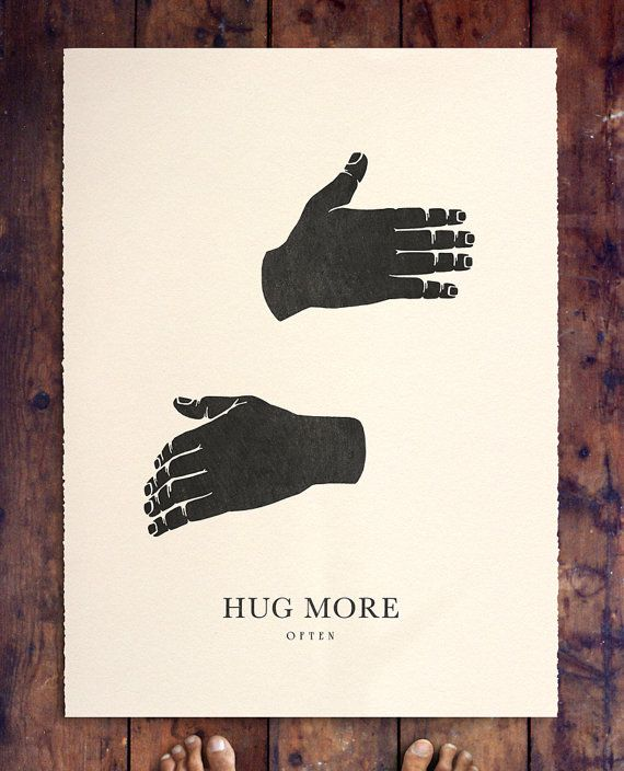 HUG MORE by beauchamping on Etsy