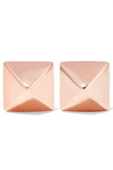 Anita Ko Spike 14-karat Rose Gold Earrings FfXiX