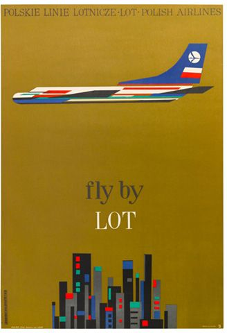 Polish Airline Poster...I actually really like this even just as wall art not just a pre flight room