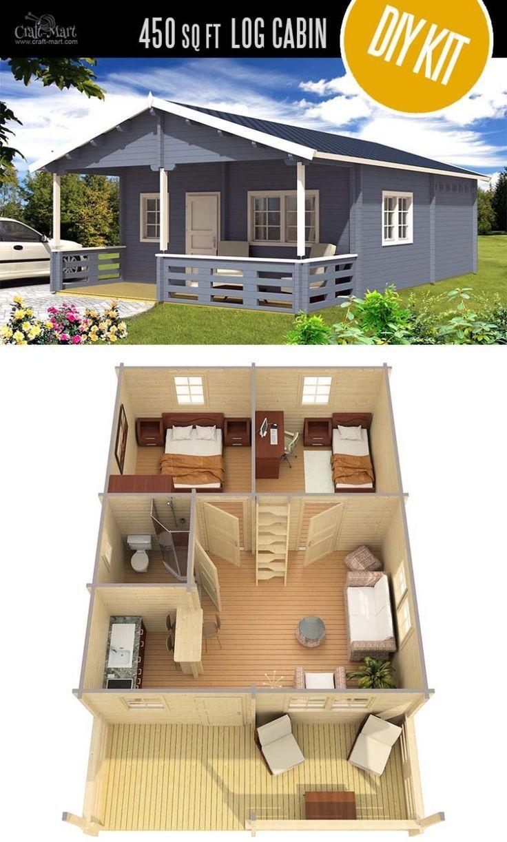Tiny Log Cabin Kits – Easy DIY Project