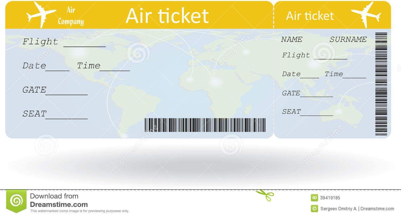 international plane ticket template Google Search