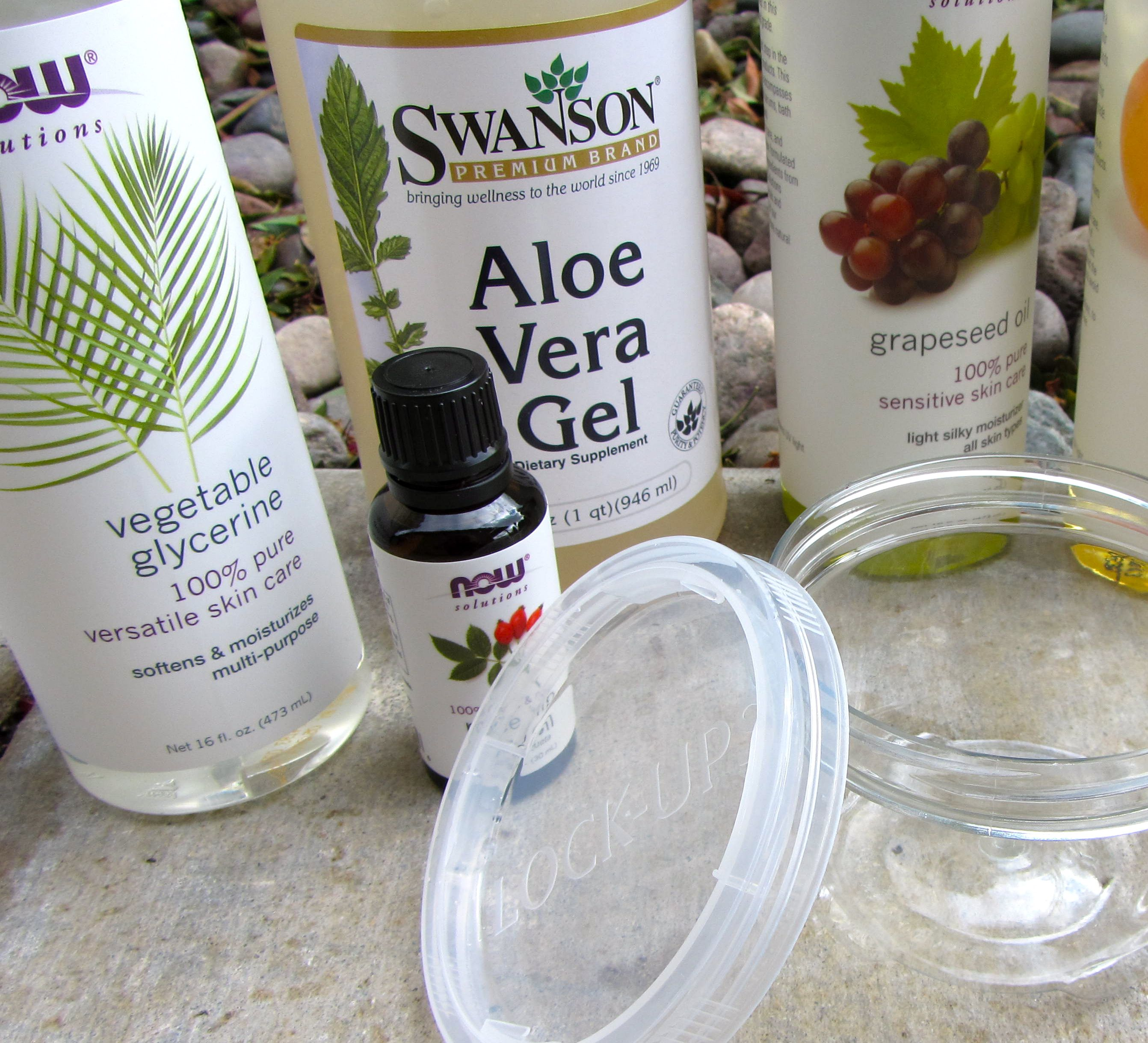 Diy Face Moisturizer Vegetable Glycerin Aloe Vera Gel Grapeseed