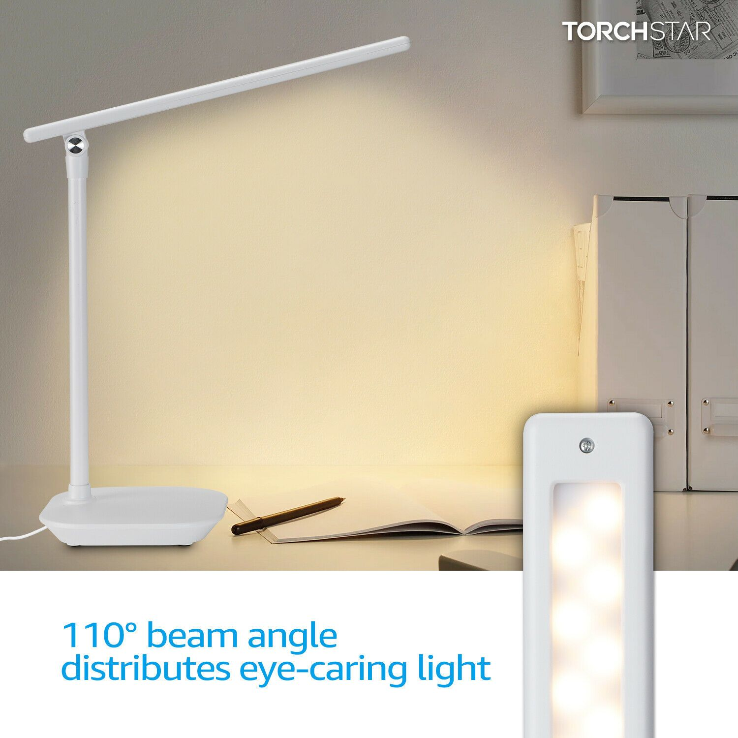 Dimmable Led Desk Lamp Soft Touch Eye Caring Lamp 3 Lighting