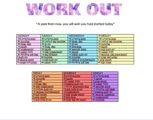 Work Out Plan cx A Blog By Lizzz\u003c3 Pinterest