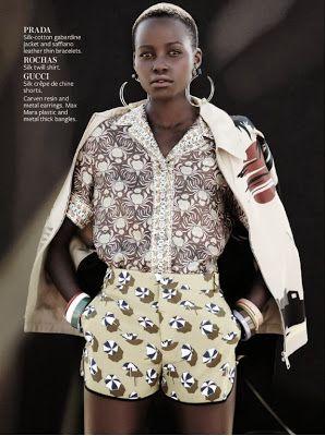 """swept  away"" fashion editorial instyle magazine december 2013  model: Lupita  photographer: Emma Tempest  Styling: Melissa Rubini #prints"