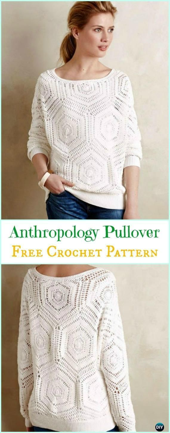 Crochet Anthropology Inspired Pullover Free Pattern - Crochet Women ...