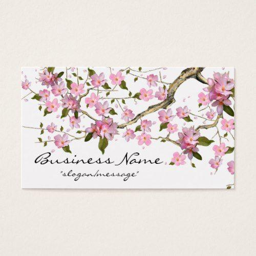 Cherry Blossom Tree Branch 2 Business Card Zazzle Com In 2021 Cherry Blossom Tree Blossom Trees Cherry Blossom Branch
