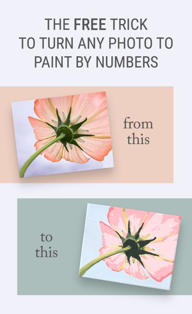The Free Trick For How To Turn A Photo Into Paint By Numbers Wall Art Convert Your Favorite Photos Printable Template Without Any