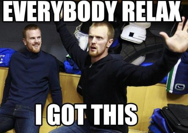 vancouver canucks meme of the day with daniel sedin vancouver canucks canucks hockey humor
