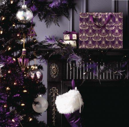Christmas Decorating Looks Matalan Black Christmas Decorations Black Christmas Trees Dark Christmas