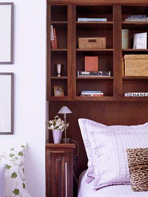 Un mueble en el cabecero   Respaldos de cama, Inmobiliarias y Vida sana