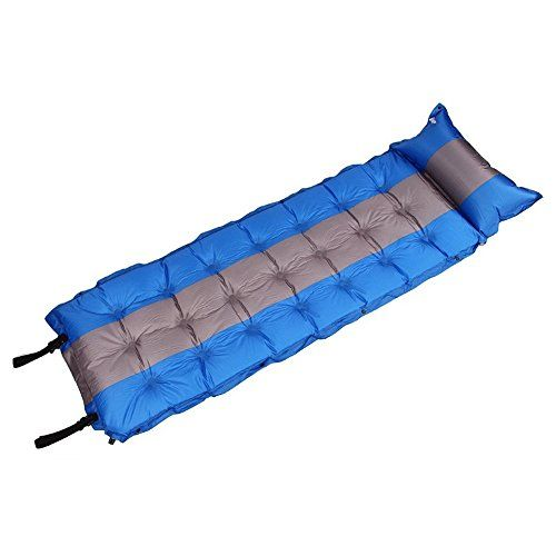 Iregro Waterproof Single Self Inflating Sleeping Pad Mat Outdoor Camping Mat With A Inflatable Pillow Convenient Splicing Easy To Carry Uksportsoutdoors Camping Sleeping Pad Camping Bed Sleeping Pads