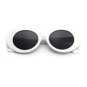 Clout Goggles White Quttee Glasses Goggles Oval Sunglass