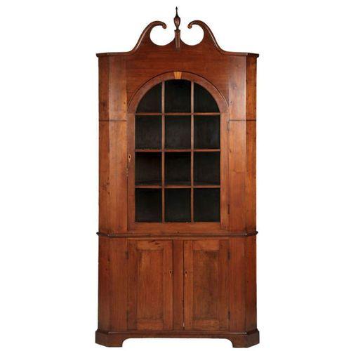 Antique Walnut Corner Cupboard | American Federal Antique Corner Cupboard in Walnut, PA or Southern c ...
