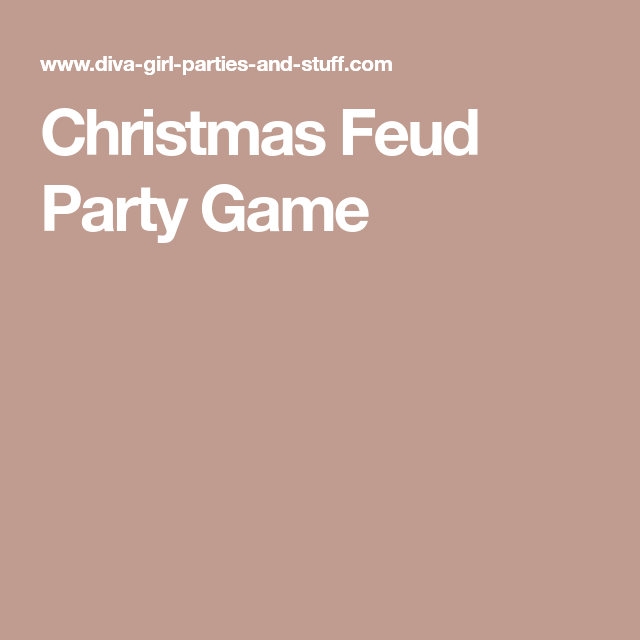 Christmas Feud Party Game