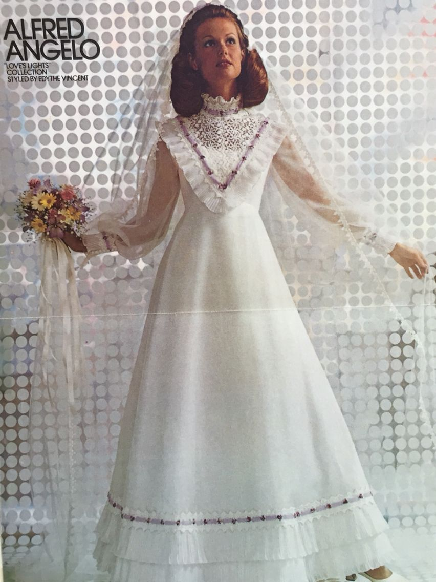 My dress. 1973. Wedding dresses, Wedding dresses vintage