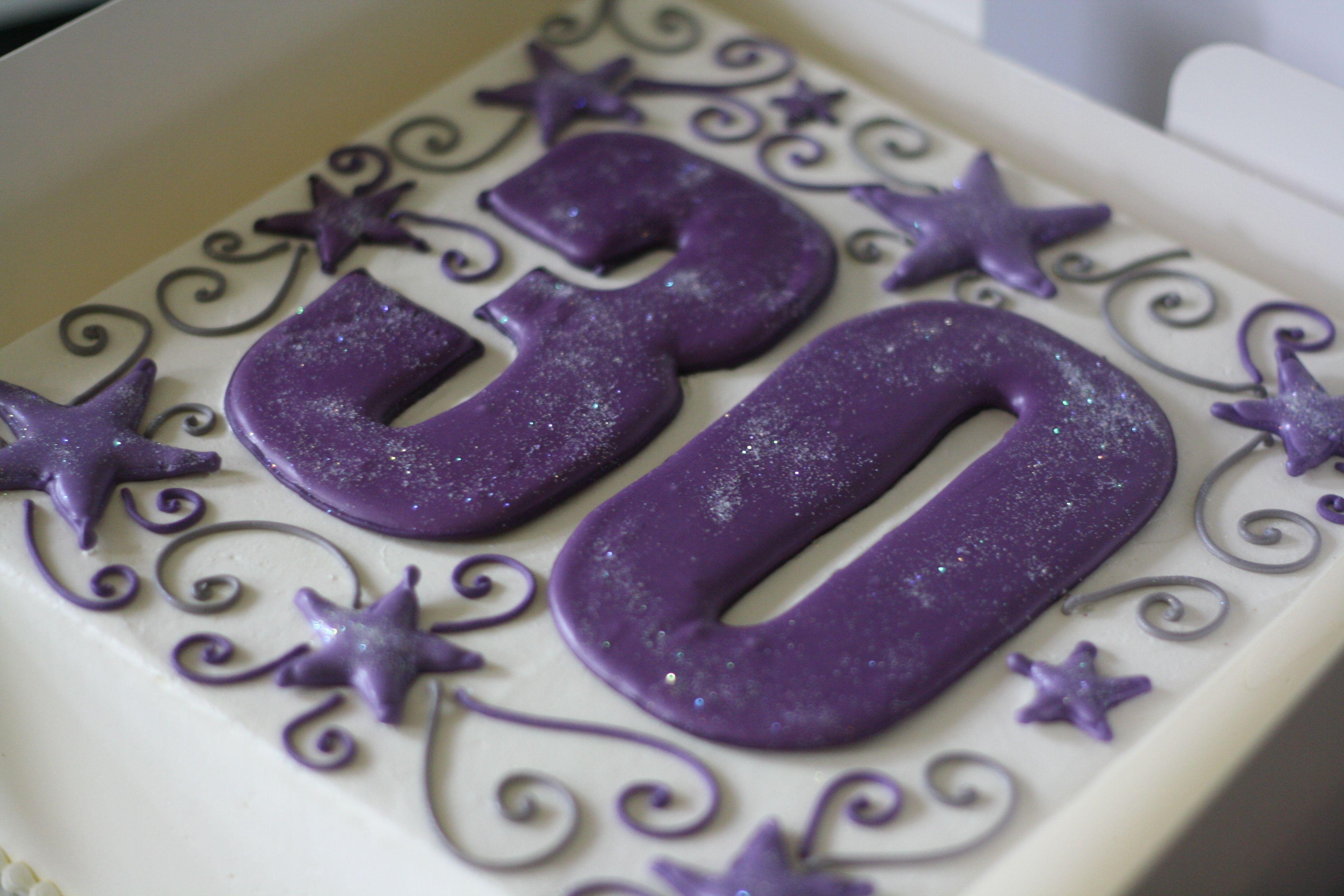 12 Purple 30th Birthday Cakes For Women Photo Black And Purple 30th Birthday Cake For Women Cakes For Women 30 Birthday Cake