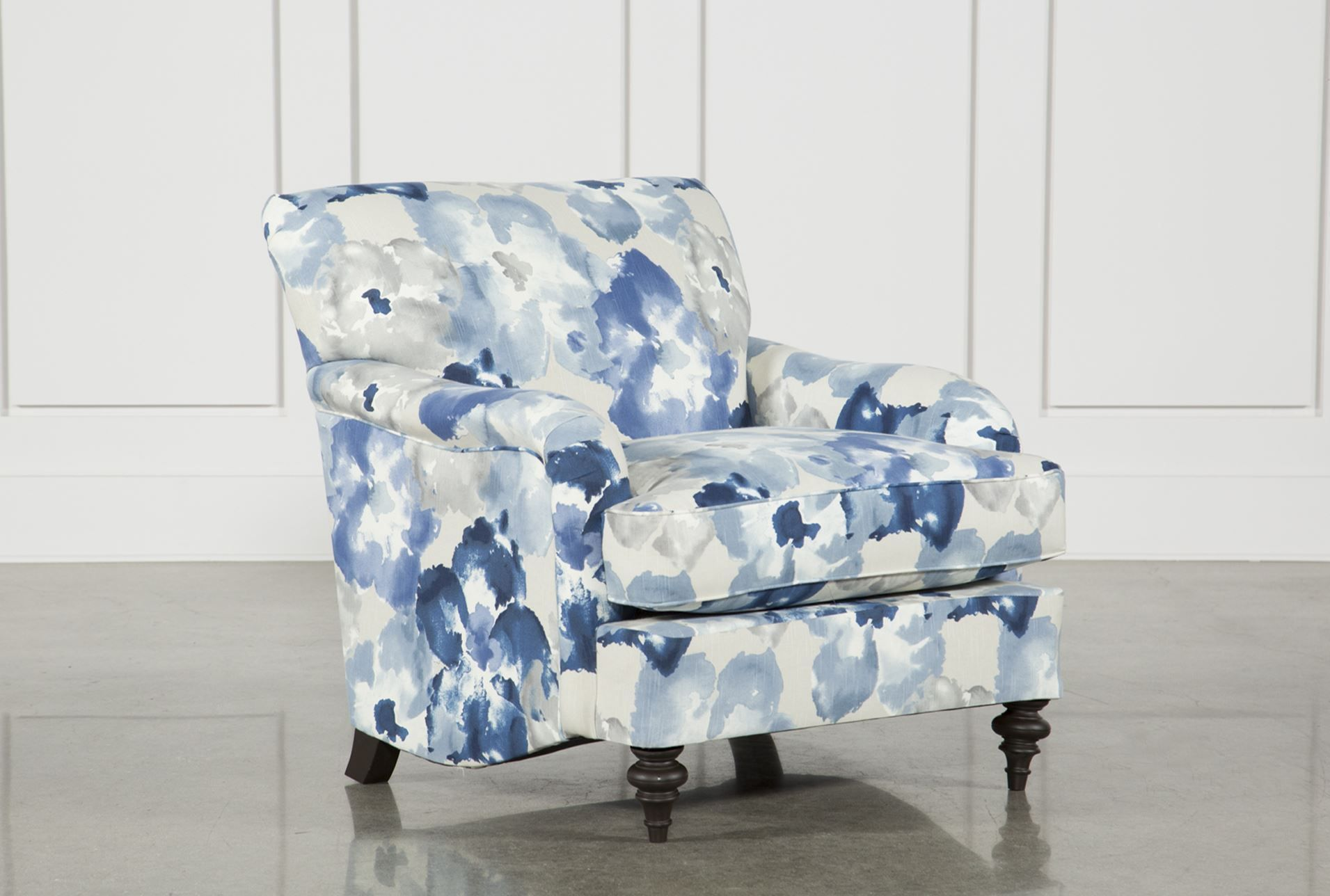 Marissa Accent Chair Living Spaces Accent Chairs Blue Accent
