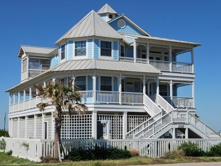 Exterior Coastal House Colors Beachside Village Galveston Tx Beach Al