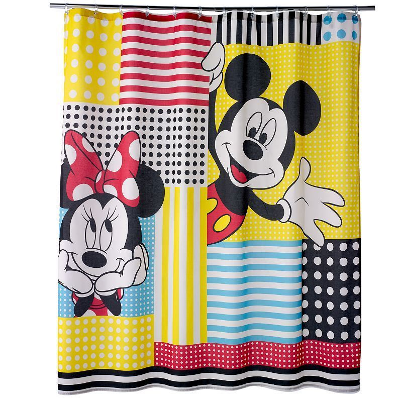 Disneys Mickey Minnie Mouse Fabric Shower Curtain By Jumping BeansAR Multicolor
