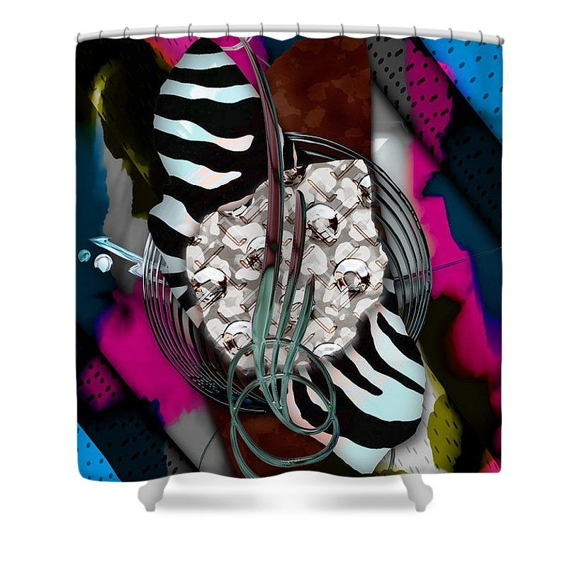 Art In Motion Shower Curtain Featuring The Mixed Media Art In