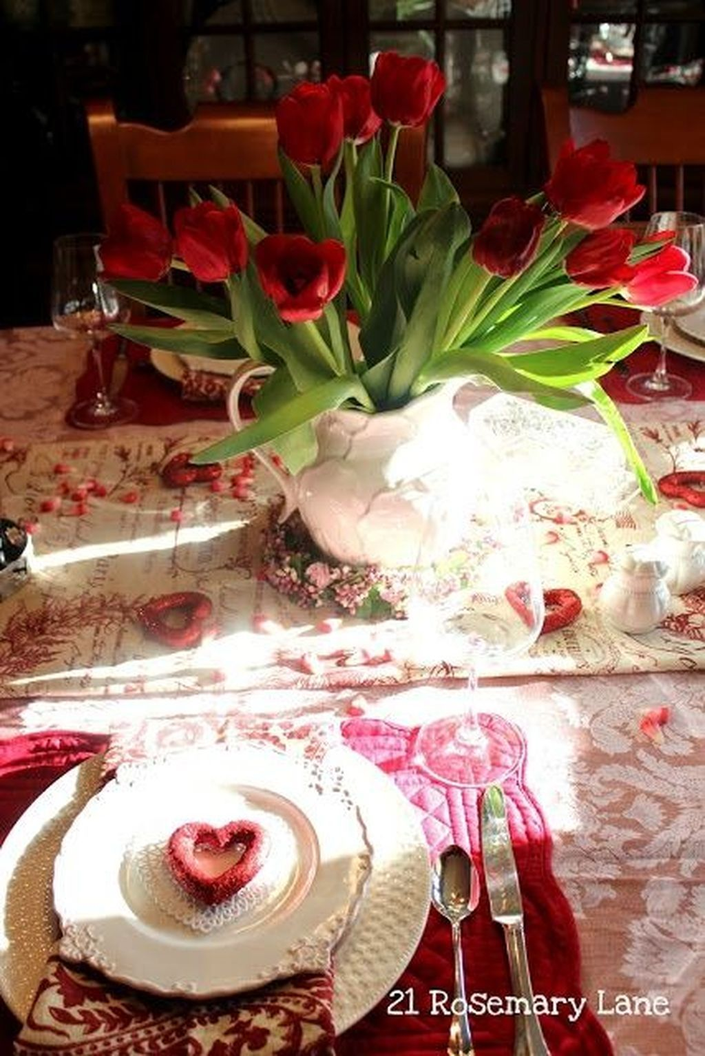 88 Totally Inspiring Valentine\'S Day Table Settings Ideas | Table ...