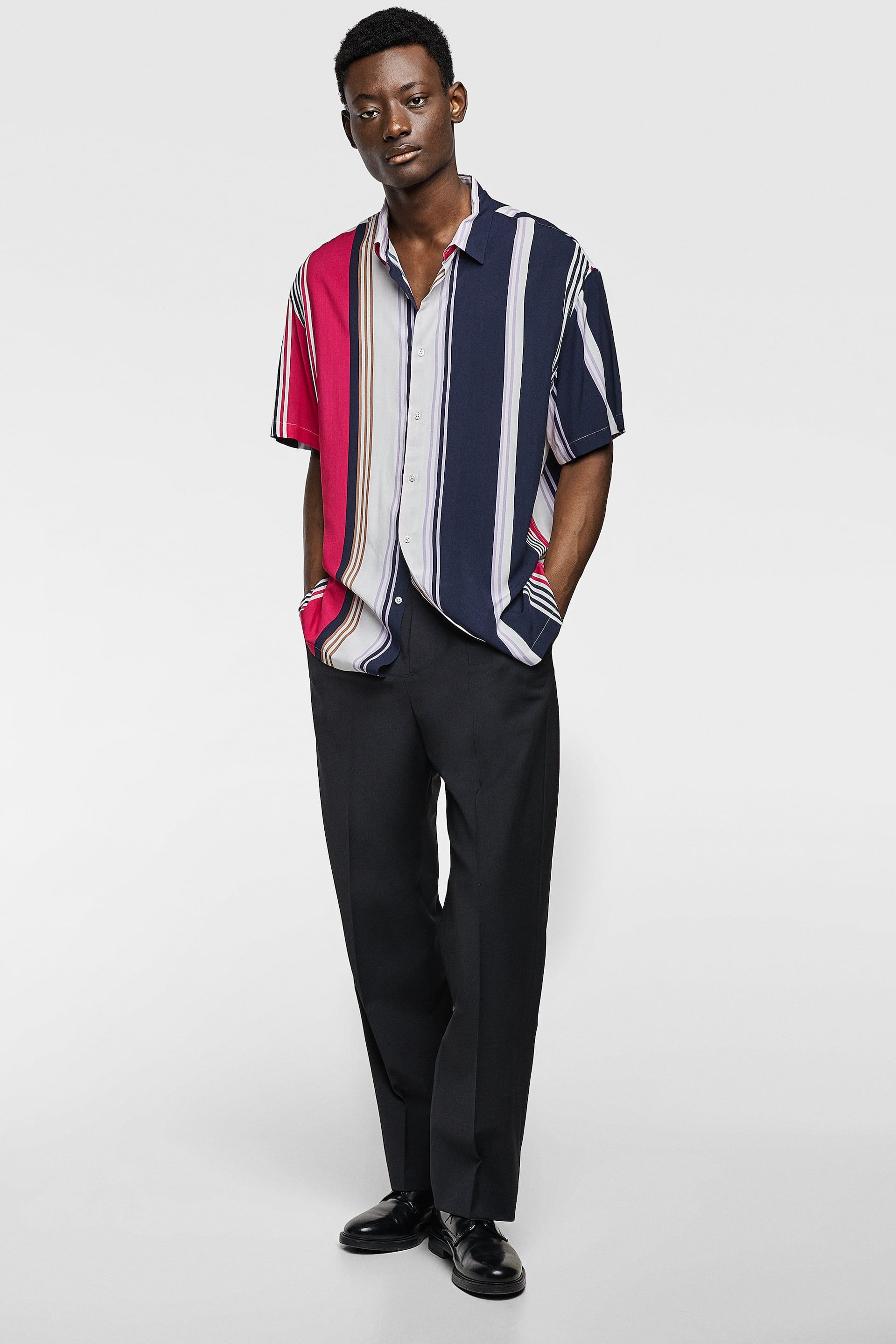 a5bb8763 Image 1 of STRIPED FLOWING SHIRT from Zara | Game Studio Refences in ...