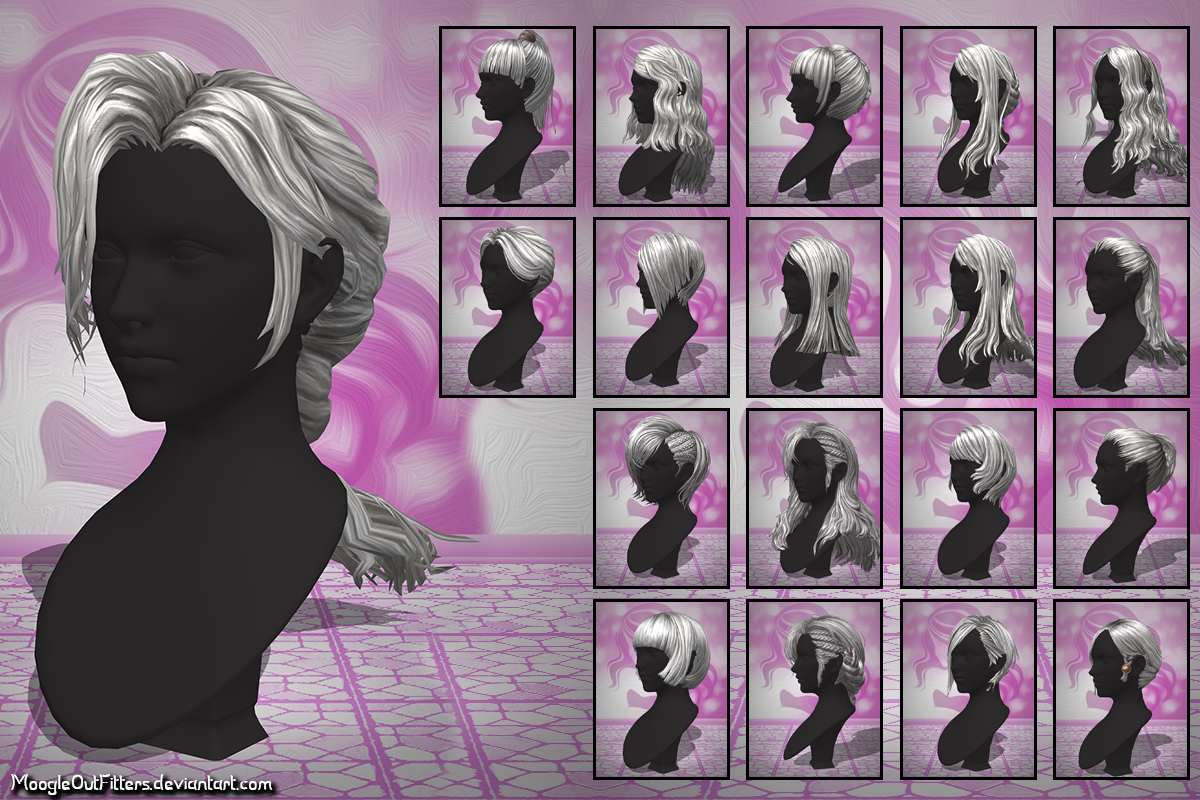 TERA Online - Highelf Female Hairstyles by MoogleOutFitters