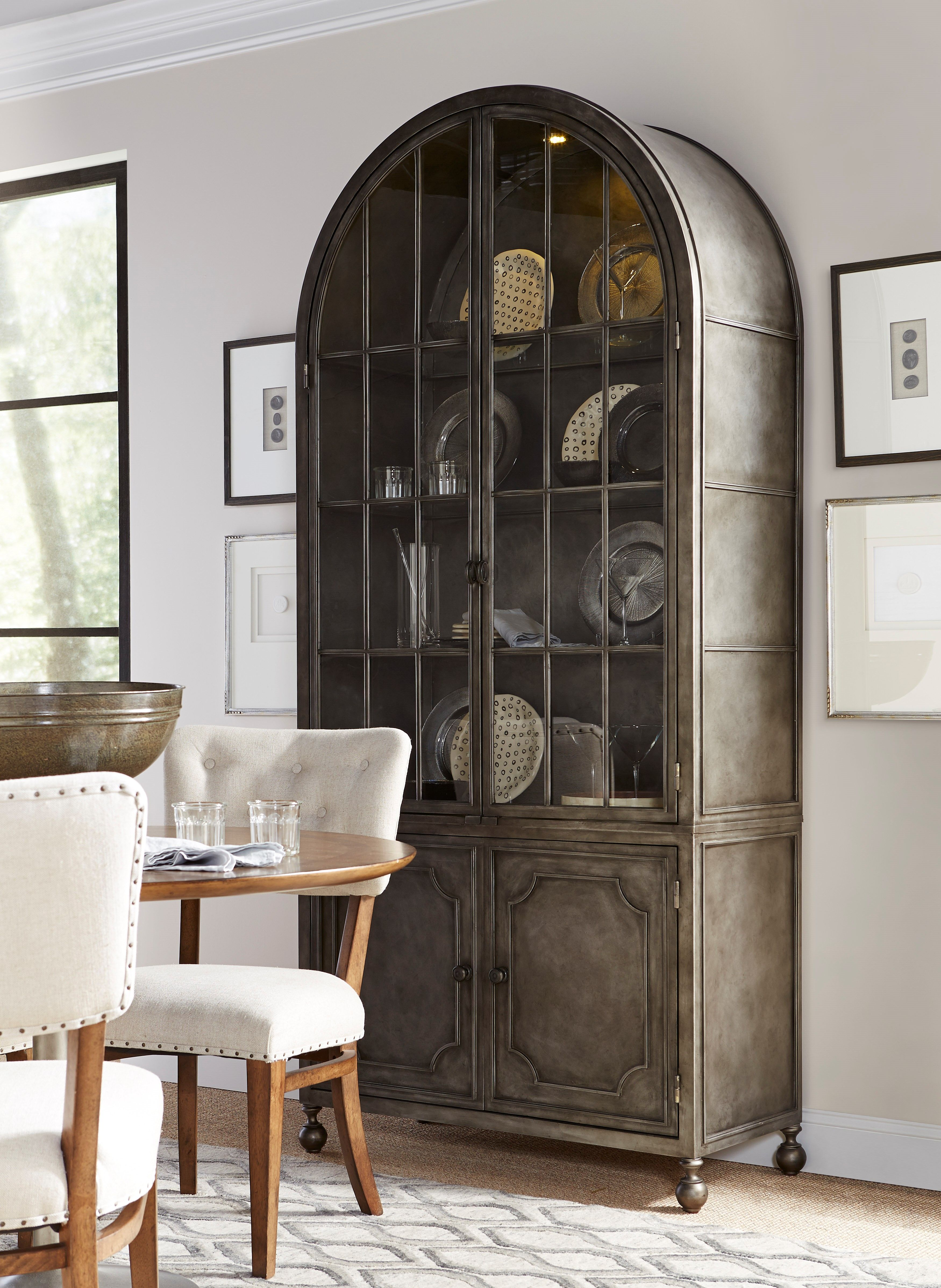 Universal Furniture Remix Metal Display Cabinet Like A Clic Song That Is Transformed With The Energy Of New Artist From
