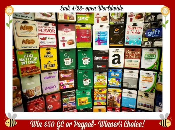 Win a $50 Gift Card of your choice OR Paypal! | sweeps | Pinterest