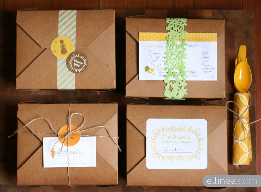Kraft takeout boxes for Thanksgiving leftovers PackagingGift