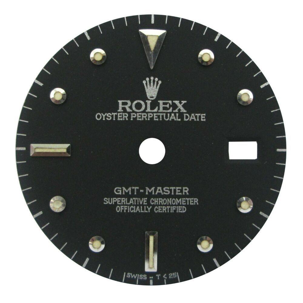 Black Dial Fits Rolex Gmt Master 16700 Pepsi Watch Dial Quick Set Rolex Rolex Gmt Master Apple Watch Custom Faces Rolex