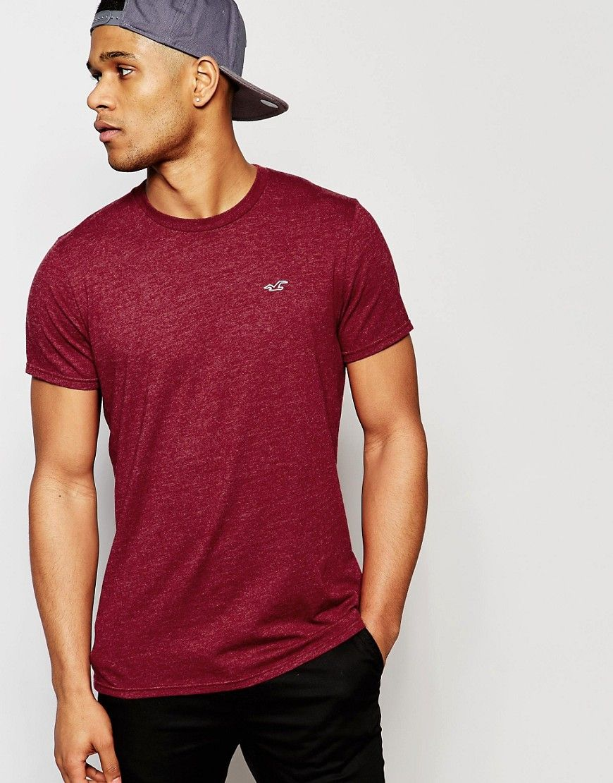 bd13c575226a Hollister+Crew+Neck+T-Shirt+In+Slim+Fit